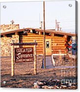 Chamber Of Commerce Log Cabin Fairbanks Alaska 1969 Acrylic Print