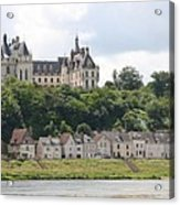 Chateau De Chaumont Stands Above The River Loire Acrylic Print
