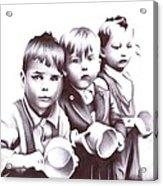 Children Should Not Need Food ... Acrylic Print
