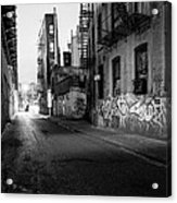 Chinatown New York City - Mechanics Alley Acrylic Print