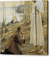 Christ And Mary Magdalene A Finnish Legend Acrylic Print