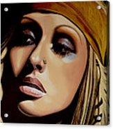 Christina Aguilera Painting Acrylic Print