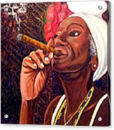 Cigar Lady Acrylic Print
