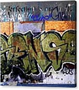 City Grafitti Making Sense  Acrylic Print