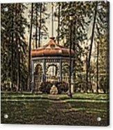 Coeur D'alene Park Gazebo Acrylic Print by Dan Quam