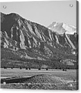 Colorado Rocky Mountains Flatirons With Snow Covered Twin Peaks Acrylic Print