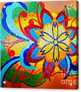 Colorful Tile Abstract Acrylic Print