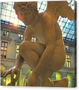 Cupid Playing With A Butterfly - Louvre Museum Paris Acrylic Print