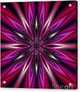Dark Purple Abstract Star Duvet Cover  Acrylic Print
