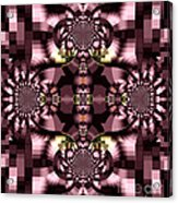 Dark Purple Flowers Abstract Duvet Cover Acrylic Print