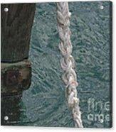 Dock Rope And Wood Acrylic Print