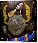 Dona Bomber Jacket Acrylic Print