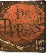 Dr Pepper Vintage Sign Acrylic Print