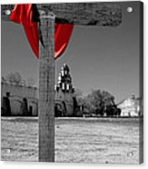 Mission San Juan Easter Cross Acrylic Print