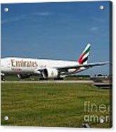 Emirates Boeing 777 Acrylic Print