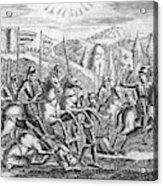 English Soldiers Under Edward  IIi Acrylic Print