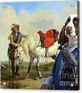 English Springer Spaniel Art Canvas Print Acrylic Print