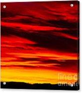 Fiery Furnace Sunset Acrylic Print