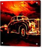 Fire  Flame  Hell  Classic Car  City Acrylic Print