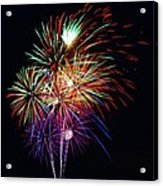Fireworks Across The Bay Acrylic Print