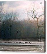 Flying Geese Surrealism Acrylic Print