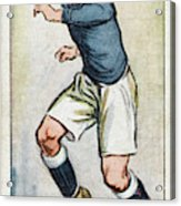 Fred Keenor, Player For Cardiff City Acrylic Print