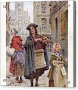 French Street Musicians -  Fiddler Acrylic Print