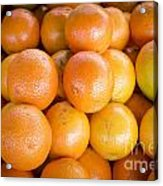 Fresh Oranges On A Street Fair In Brazil Acrylic Print by Ricardo Lisboa