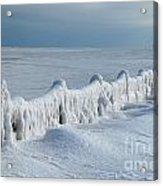 Frozen Pier Acrylic Print