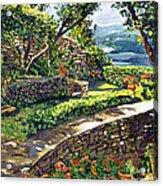 Garden Stairway Acrylic Print by David Lloyd Glover