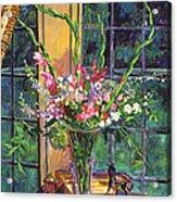 Gladiola Arrangement Acrylic Print by David Lloyd Glover