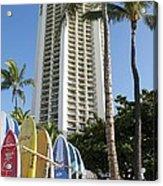 Hawaiian Surf Board's  Acrylic Print