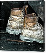 His Work Boots Acrylic Print