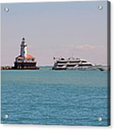 Historical Chicago Harbor Light Acrylic Print by Christine Till