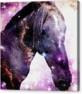Horse In The Small Magellanic Cloud Acrylic Print by Anastasiya Malakhova