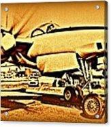 Howard Hughes And The Hughes Xf-11 Acrylic Print