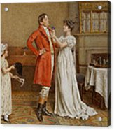 I Wish You Luck Acrylic Print by George Goodwin Kilburne