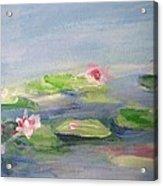 Impressionistic Lilies Monet Acrylic Print