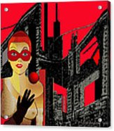 014 - In  Red   City Darkness Acrylic Print