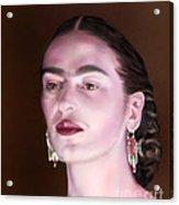 In The Eyes Of Beauty - Frida Acrylic Print