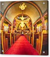 Interior Of  Holy Trinity Gre Acrylic Print