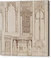 Islamic And Moorish Design For Shutters And Divans Acrylic Print by Jean Francois Albanis de Beaumont