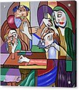 Jesus Anointed At Bethany Acrylic Print