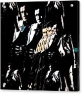 Johnny Cash Multiplied  Acrylic Print