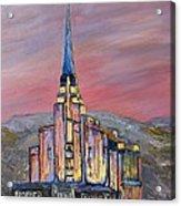 Latter Day Saints Rexburg Mormon Temple Rexburg Idaho Acrylic Print