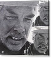 Lee Marvin Monte Walsh Variation #3 Collage Old Tucson Arizona 1969-2012 Acrylic Print