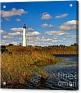 Lighthouse At The Water Acrylic Print
