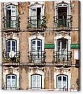 Lisbon - 18th Century Facade  Acrylic Print