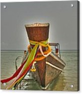 Long Tail Boat Acrylic Print