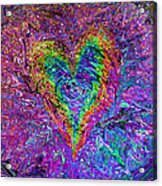 Love From The Ripple Of Thought  V 5  Acrylic Print by Kenneth James